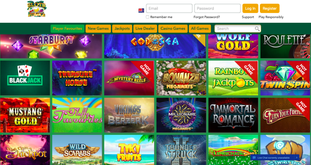 InternetCasinos Slots Jungle Casino at a Glance